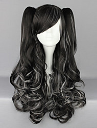 cheap -Cosplay Wigs Women's 28 inch Heat Resistant Fiber Black Anime / Punk Lolita Dress
