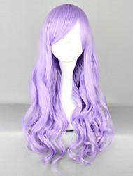 cheap -Cosplay Wigs Women's 28 inch Heat Resistant Fiber Light Purple / Crystal Anime