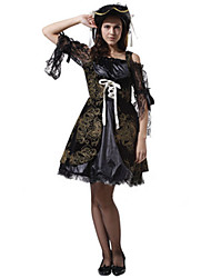cheap -Pirate Cosplay Costume Women's Halloween Carnival New Year Festival / Holiday Polyester Women's Carnival Costumes / Hat