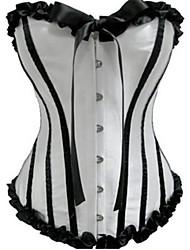 cheap -Girls' Classic Lolita Dress Corset Black / White Striped Patchwork Satin Lolita Accessories