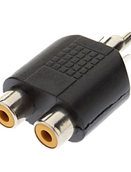 cheap -RCA Male to 2xRCA Female Adapter