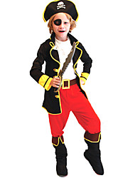 cheap -Pirate Cosplay Costume Kid's Halloween Children's Day New Year Festival / Holiday Polyester Carnival Costumes / Hat