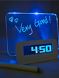 cheap -Message Board Blue Light Digital Alarm Clock with 4 USB Port Hub 1pc (USB)