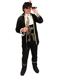 cheap -Pirate Cosplay Costume Men's Halloween Carnival New Year Festival / Holiday Polyester Men's Carnival Costumes / Hat