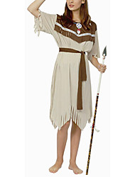 cheap -Ethnic / Religious Warrior Cosplay Costume Women's Halloween Carnival New Year Festival / Holiday Polyester Women's Carnival Costumes / Headpiece
