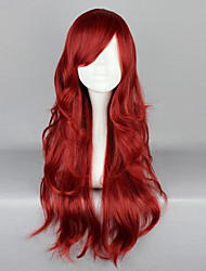 cheap -Cosplay Wigs Women's 26 inch Heat Resistant Fiber Red Anime / Gothic Lolita Dress