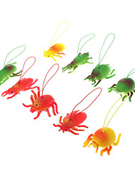 cheap -10pcs Insects Shaped Soft Rubber Toy(Random Color)