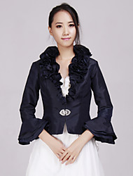 cheap -Coats / Jackets Taffeta Wedding / Party Evening / Casual Wedding  Wraps With Beading / Ruffles