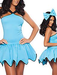 Недорогие -Сладкий мед голубой Fancy Женщины платье Костюм
