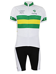 cheap -Malciklo Men's Women's Short Sleeve Cycling Jersey with Shorts Elastane Polyester Australia Champion National Flag Bike Clothing Suit Mountain Bike MTB Road Bike Cycling Windproof Quick Dry