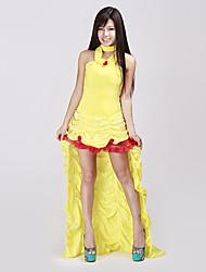 Недорогие -Сексуальная взрослая женщина Делюкс красоты Fairytale Желтая принцесса костюм (1Pieces)