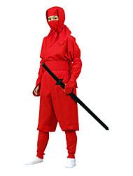 Недорогие -Взрослый красный костюм ниндзя