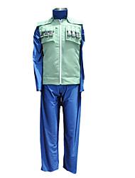 preiswerte -Inspiriert von Naruto Hatake Kakashi Anime Cosplay Kostüme Japanisch Cosplay Kostüme Patchwork Langarm Weste Hosen T-shirt Für Herrn