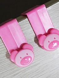 Недорогие -Cute Bear дизайн пластиковых Over-The-Carbint Крюк / Hook мешок для мусора
