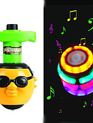 cheap -sound light up psy style peg top with gangnam style music