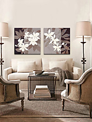 cheap -Stretched Canvas Art Botanical Dried Leaves Set of 3
