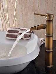 cheap -Art Deco/Retro Vessel Ceramic Valve One Hole Single Handle One Hole Antique Brass, Bathroom Sink Faucet Bath Taps