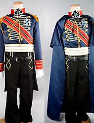 cheap -Soldier / Warrior Career Costumes Cosplay Costume Party Costume Men's Halloween Carnival New Year Festival / Holiday Satin Men's Easy Carnival Costumes Patchwork / Coat / Pants / Belt / Cloak
