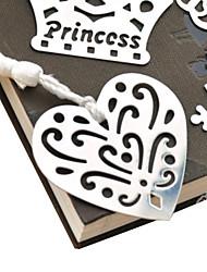 cheap -Hollow-Out Heart Shaped Tassel Metal Bookmark