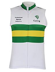 cheap -Malciklo Men's Women's Sleeveless Cycling Vest Polyester Australia Champion National Flag Bike Vest / Gilet Top Mountain Bike MTB Road Bike Cycling Breathable Quick Dry Waterproof Zipper Sports