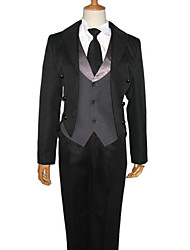 cheap -Inspired by Black Butler Sebastian Michaelis Anime Cosplay Costumes Japanese Cosplay Suits Solid Colored Long Sleeve Vest Shirt Pants For Men's Women's / Tuxedo / Tie / Tuxedo / Tie