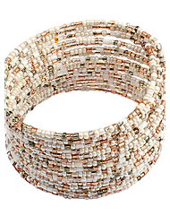 cheap -Cheap Persona Beads Collection Bohemian Open Resin Bracelet Jewelry White / Blue / Rainbow For Party Special Occasion Birthday Gift Daily Casual