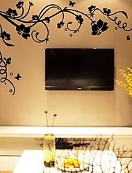 Недорогие -DIY наклейки на стены цветок ветви деревьев моющиеся наклейки на стены 1 шт.