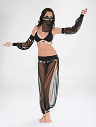 cheap -Women's Ethnic / Religious Sex Cosplay Costume Hollow Pants Bra Sleeves / Organza