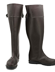 cheap -Cosplay Boots Attack on Titan Eren Jager Anime Cosplay Shoes PU Leather Men's Halloween Costumes