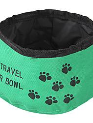 cheap -Cat / Dog Bowls & Water Bottles Pet Bowls & Feeding Foldable Red / Green / Blue