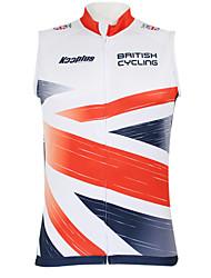 cheap -Malciklo Men's Women's Sleeveless Cycling Vest Red / White British Champion National Flag Bike Vest / Gilet Top Mountain Bike MTB Road Bike Cycling Breathable Quick Dry Waterproof Zipper Sports