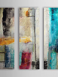 cheap -Hand-Painted Oil Painting Abstract Impulse With Stretched Frame Three Panels