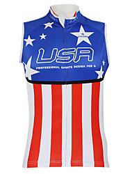 cheap -Malciklo Men's Women's Unisex Sleeveless Cycling Vest Bike Vest / Gilet Jersey Top Breathable Quick Dry Waterproof Zipper Sports 100% Polyester Mountain Bike MTB Road Bike Cycling Clothing Apparel