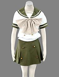 cheap -Inspired by Shakugan no Shana Shana Anime Cosplay Costumes Japanese Cosplay Suits / School Uniforms Short Sleeve Top / Skirt / Ribbon For Women's