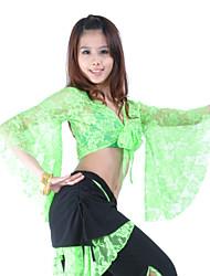 cheap -Belly Dance Tops Women's Training Lace 3/4 Length Sleeve Top / Ballroom