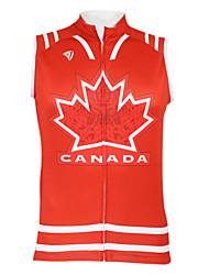 cheap -Malciklo Men's Women's Unisex Sleeveless Cycling Vest Polyester Bike Vest / Gilet Jersey Top Mountain Bike MTB Road Bike Cycling Breathable Quick Dry Waterproof Zipper Sports Clothing Apparel