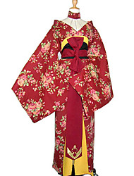 cheap -Japanese Traditional Kimono Women's New Year Masquerade Festival / Holiday Cotton Red Carnival Costumes Floral