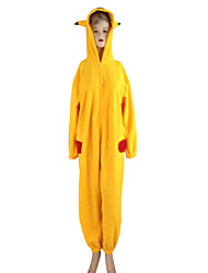 cheap -Inspired by Pocket Little Monster PIKA PIKA Video Game Cosplay Costumes Cosplay Suits / Kigurumi Pajamas Long Sleeve Leotard / Onesie Costumes