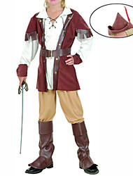 cheap -Pirate Cosplay Costume Party Costume Kid's Halloween Children's Day Festival / Holiday Feather Polyurethane Leather Carnival Costumes Patchwork
