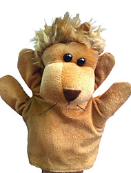 cheap -1pcs hand puppets beige lion