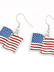 cheap -Flag Cheap Patriotic Jewelry Personalized Classic Fashion Earrings Jewelry Silver For Party Daily Casual