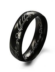 Недорогие -Черный титан стальное кольцо
