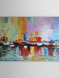 "cheap -Oil Painting Hand Painted - Abstract Modern Stretched Canvas / 20"" x 24"" (50 x 60cm) / 24"" x 36"" (60 x 90cm)"