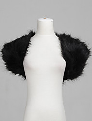 cheap -Short Sleeve Shrugs Feather / Fur Party Evening Wedding  Wraps / Fur Wraps With Smooth / Fur