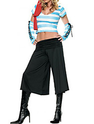 cheap -Attractive Pirate Blue Short Top and Black Pants Women's Halloween Costume
