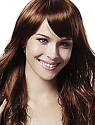 cheap -Synthetic Wig Wavy Classic Classic Wavy Wig Synthetic Hair 20 inch Women's Brown