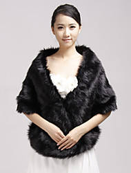 cheap -Shawls Faux Fur Party Evening / Casual Wedding  Wraps / Fur Wraps With