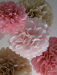 cheap -Tissue Paper Decoration Mixed Material Wedding Decorations Wedding Party Floral Theme / Classic Theme Spring / Summer / Fall