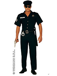 cheap -Police Career Costumes Cosplay Costume Outfits Adults' Men's Halloween Carnival New Year Festival / Holiday Polyester Carnival Costumes / Hat