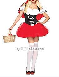 cheap -Sexy Adult Little Red Riding Hood Dress  Halloween Costume
